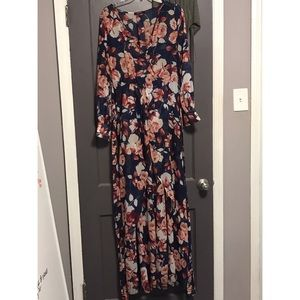 Long, floral gown